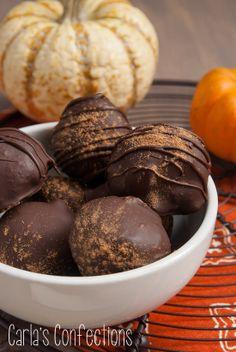 Pumpkin Pie Truffles from www.carlasconfections.com