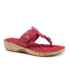 Look what I found on #zulily! Red Boulder Leather Sandal by SoftWalk #zulilyfinds