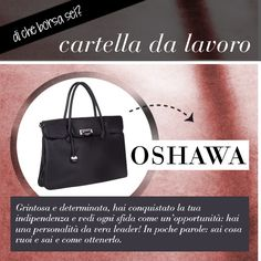 Qual è la tua borsa preferita? Usi spesso la cartella da lavoro? Sei una persona decisa e determinata...