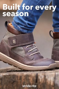 Sign up for special offers and new arrivals! These boys high-top boots are crafted with suede, memory foam, anti-stink treatment and 100% machine washable materials to take them through all seasons.