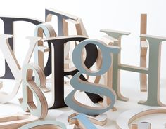 Customize your own words with these handcrafted letters made from waste material of larger furniture production.