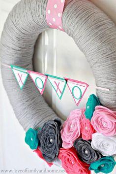 valentines day wreath #love #valentine