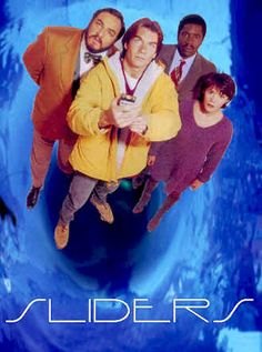 Sliders - TV series This represents graphics because it is advertising people to watch a TV Show. I remember this show! Sci Fi Tv Shows, Sci Fi Series, Movies And Tv Shows, Great Tv Shows, Old Tv Shows, New Shows, Science Fiction, Doctor Who, Television Program