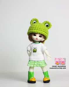 Felix brownie / Pukipuki  Frog hat by nubanded on Etsy