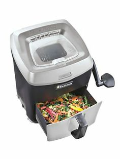 Turn even tough food scraps into composting-size pieces. You can keep this compact shredder handy on your kitchen counter ...