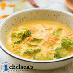 Creamy and delicious broccoli cheddar soup made in ONE POT on the stovetop This soup is easy to make and full of flavor the secret to this soup is in the spices easy panera healthy recipe homemade brocccoli food cheddar soup best vegetarian Broccoli Soup Recipes, Healthy Soup Recipes, Healthy Meal Prep, Healthy Snacks, Broccoli Salad, Homemade Cream Of Broccoli Soup Recipe, Summer Soup Recipes, Vegetarian Recipes Videos, Salad Recipes