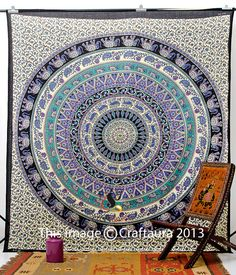 Elphant Tapestries Hippie Tapestry Tapestries by CraftAuraHome, $19.99