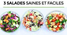 3 Easy Healthy Salad Recipes - 3 healthy and easy salad recipes – Santé Nutrition - Winter Salad Recipes, Salad Recipes Healthy Lunch, Salad Recipes For Dinner, Healthy Meals For Two, Super Healthy Recipes, Easy Salads, Healthy Salad Recipes, Healthy Chicken Recipes, Healthy Breakfast Recipes