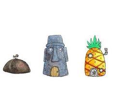 Spongebob Squarepants stickers featuring millions of original designs created by independent artists. White or transparent. Spongebob House, Spongebob Patrick, Spongebob Squidward, Tumblr Drawings, Cute Drawings, Tumblr Stickers, Cute Stickers, Phone Stickers, Transparents Tumblr