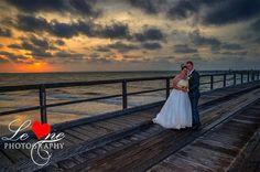 Amba and Daniel: And our famous mango-coloured sunsets at Sunset Beach   Photo: Le One Photography   #kingfisherbay #fraserisland #destinationwedding #fraserislandwedding #fraserwedding http://www.fraserislandweddings.com.au/ #AccorAustralia #Mercure