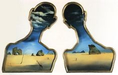 A Couple with Their Heads Full of Clouds, 1936 Dali