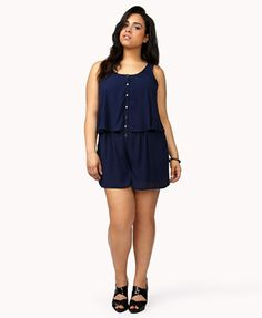 Layered Chiffon Romper | FOREVER21 PLUS - 2034403290