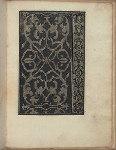 Esemplario di Lauori..., page 9 (verso) ~ Embroidery pattern ~ published by…