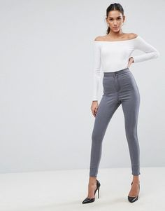 0a4d9f55c2d523 ASOS - RIVINGTON High Waisted Jegging in Sofie Gray - $42.00 Grey Wash, Women's  Jeans