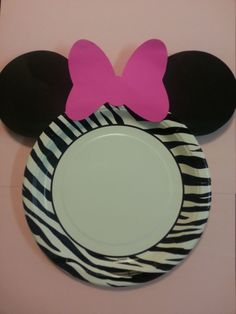 Minnie Mouse Zebra Birthday Party Cake Plates by MagicalFantasia2
