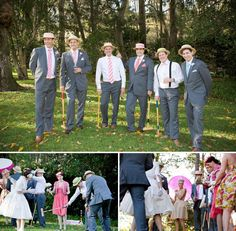 Ignore the wedding part, I want to have a party where people dress like this, we drink lynchburg lemonades (the drink not the brand name product) and play croquet.