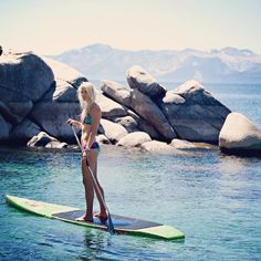 I would love to SUP somewhere warm, but Lake Tahoe would be stunning