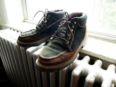 3-Toned Heartland Hiking Boots : vintage 90s Women's 8. $32.00, via Etsy.