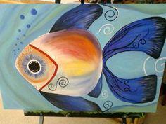 Acrylic Fish Painting
