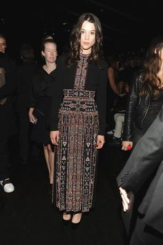 Àstrid Bergès-Frisbey wearing a Spring 2016 Valentino dress while attending the Valentino Womenswear Spring/Summer 2016 during Paris Fashion Week on October 6th, 2015
