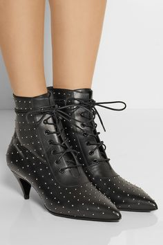 Saint Laurent | Studded leather ankle boots