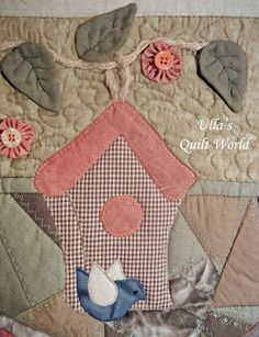 Wall hanging quilt  Houses