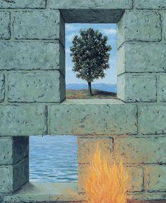 Painting by René Magritte, 1950, Le confort de l'esprit (Mental complacency). #Surrealism