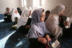 Young girls in the classroom. Student in the classroom. Afghanistan. Photo: © Sofie Tesson / TAIMANI FILMS / WORLD BANK