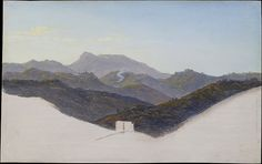 This painting is a precise replica of a plein-air sketch that Reinhold made in September 1822. It is fascinating that in making this second version he even reproduced the areas consisting of nothing but the original support that had been left in reserve and unpainted