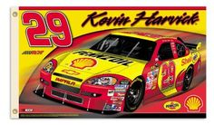 NASCAR Kevin Harvick #29 2-Sided 3-by-5 Foot Flag with Grommets by BSI. $35.72. Support your favorite driver by hanging this 3-by-5-foot 2-sided flag from B.S.I Products. This high-quality flag is made of durable polyester and is designed with 2 heavy-duty metal eyelets so it is easy to display. The officially licensed flag is decorated in the team colors and proudly displays the driver's name, car number, replica signature, primary sponsor logo and car. The graphics are ...