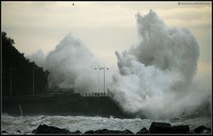 Spain. Cantabrian sea storm in San Sebastian-Donostia  | Flickr Jose Juan Gurrutxaga