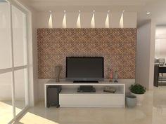 sala com painel na parede - Pesquisa Google