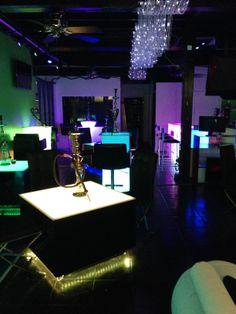 Hooka Bar Lighted Lounge Decor