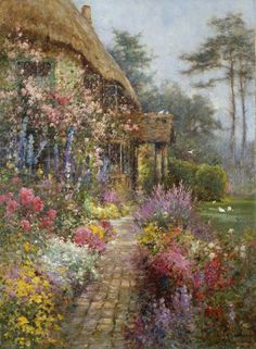 Art And Dream Painting Wonderful Style By Alfred De Breanski Jr