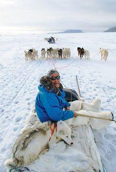 In summer, the expanse between Ilulissat and Uummannaq is open sea.