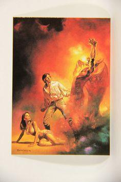 L010268 Boris Vallejo 1991 Card / Demon Released - 1978 - Card #71 / SHORT PRINT