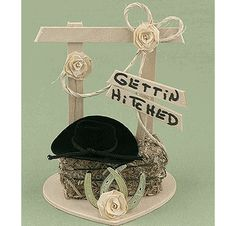 Gettin' Hitched Western Cake Topper