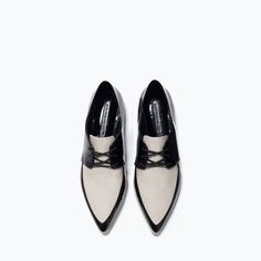 PATENT TOE BLUCHERS-  So chic, a shoe that has to be worn right, a dressy boyfriend look.