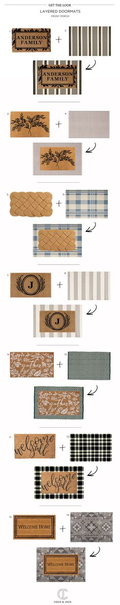 Get the Look: Layered Doormats with links!
