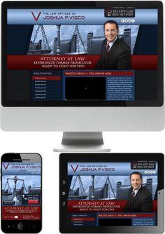 California Criminal Defense Lawyer Josh Visco Web Design - Check out our newest portfolio designs at http://firstpageattorney.com/web-design-portfolio/