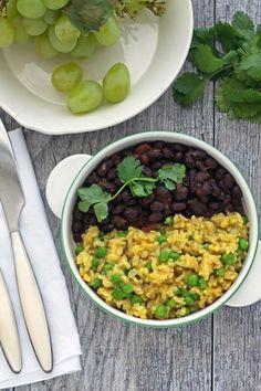 Black Beans and Burmese Rice