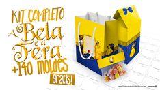 A Bela e a Fera Kit Festa Grátis para Imprimir