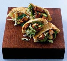 These easy wraps take just 10 minutes to prepare and are a great healthy snack on the run