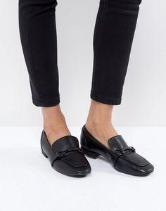 #ASOS - #Bershka Bershka Chain Detail Loafer - Black - AdoreWe.com