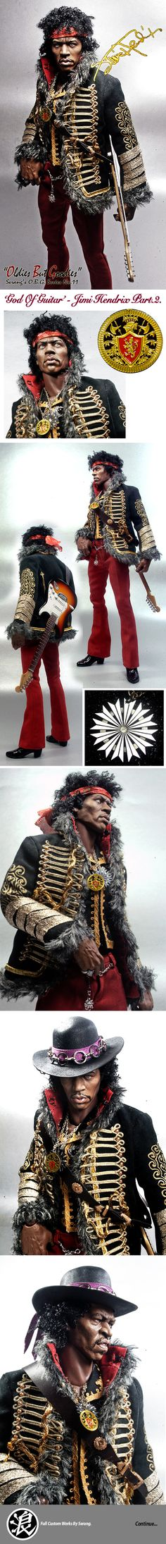 Kim Serang, Jimi Hendrix custom 1/6 figure... Insane work!