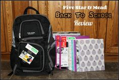 Mead® and Five Star® ~ Back To School Campaign with the Five Star Expandable Backpack, Five Star Flex® 1″ Hybrid NoteBinder,…