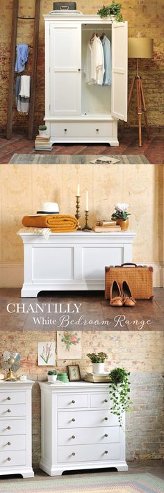 Chantilly White Painted Range from The Cotswold Company. An elegant and calming bedroom range that will transform your bedroom. Free Delivery and Free Returns.
