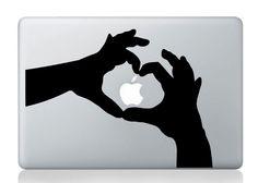 loving heart macbook stickers.