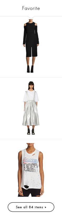 """""""Favorite"""" by simoneannalivia ❤ liked on Polyvore featuring dresses, black, woven dress, panel dress, tibi, cut out shoulder dress, cold shoulder dress, skirts, silver and pleated mid length skirts"""