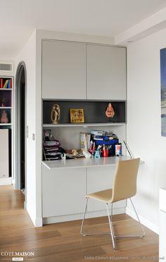 Un bureau facile ranger et qui ne prend pas de place for Coin bureau petit espace